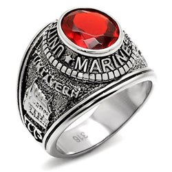 Men's Stainless Steel Marines Ring
