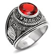 Inspired Silver Offers Men's Marines Ring to Show Support for the...