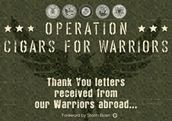 cigars, cigars for troops, operation cigars for warriors, military, thank you letters