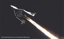 SNC's hybrid rocket technology powers SpaceshipTwo.