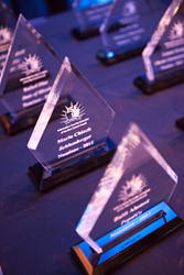 Photo of ISE Central Award trophies