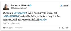 social media, rebecca minkoff, snapchat