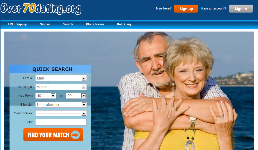 Dating site for seniors over or 70 or 60
