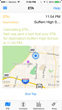 ETA Bot uses GPS to track your progress