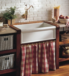 herbeau 4603 single basin fireclay farmhouse kitchen sink from the cuisine series