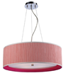 Elk Lighting Le Triumph 5-light Pendant In Polished Chrome - Pink Shade And Liner 20212 5