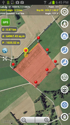 Planimeter - GPS area measure - Android application for all kinds of measurements on a map.