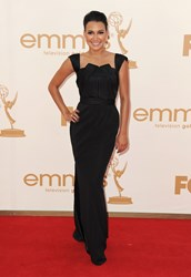 Glee star stuns in a Lloyd Klein fashion statement on the red carpet at the Emmy's
