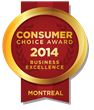 2013-2014 Montreal Consumer Choice Award Winners