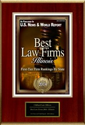 "Clifford Law Offices of Chicago, Illinois has been honored with a recognition by U.S. News & World Report in its selection of ""Best Law Firms 2014 – Illinois."""