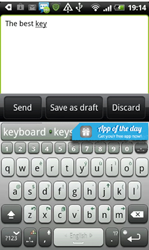 ai.type keyboard with promotional banner
