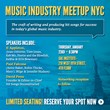 Hit Songs Deconstructed & Music Producers Forum Announce the Inaugural Music Industry Meetup NYC