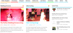 Wedding Songs Website Screenshot