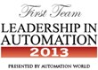 Balluff was awarded a place on the 2013 First Team in the Discrete Sensing category by Automation World Magazine.