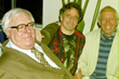 Ray Bradbury, Matt Pallamary, and Sid Stebel at the Santa Barbara Writer's Conference