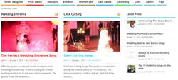 Wedding Songs Website Screenshot