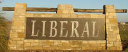 Liberal, Kansas logo sign