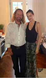 Dr. Al Sears and Miranda Kerr visiting in New York City