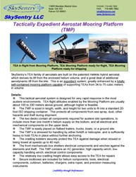 TEA Mooring Platform Specifications