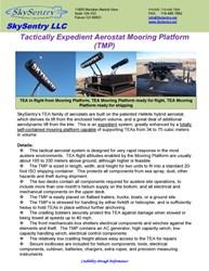 TEA Mooring Platform Specifications