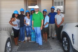 Southwind High School students visit Scott Kessler at the Cora Texas Manufacturing Company in White Castle, Louisiana to learn first hand about sugar production in the project Microfinance in Action lead by educators Biba S. Kavass and Landon Hawthorne.