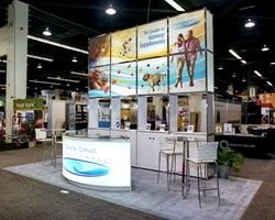 Santa Cruz Nutritionals' trade show display at Natural Products West