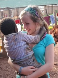 Project Yesu's founder Mallory Fundora in the Acholi Quarter
