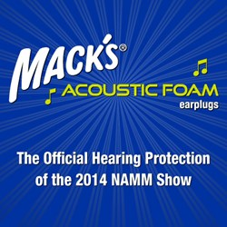 Mack's® Acoustic Foam Ear Plugs, the Official Hearing Protection of the 2014 NAMM Show