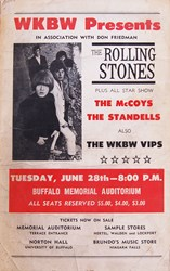 1966 Rolling Stones Buffalo New York Memorial Auditorium Concert Poster