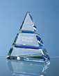 Optical Crystal Blue Luxor Award from Robert Chapman Presentations