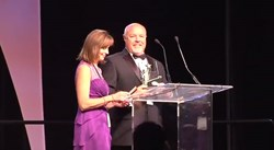 Gary and Sally Meyers, of BMW Management accepting the 2013 Spirit Award