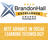 River won a 2013 gold Brandon Hall Group Award for Best Advance in Social Learning Technology