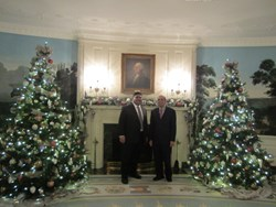 Habib (pictured on the right) at the White House