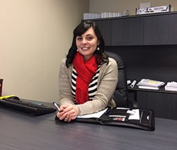 Ainsley McWhirter is already right at home at Trailer Wizards' Winnipeg branch.