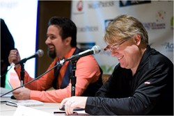Panelists Dino Dogan and Robert Scoble share valuable information to attendees.