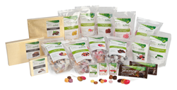 Dr. John's line of naturally sweetened sugar free, gluten free treats.