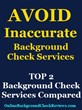 Best Background Check Service: TOP 2 Services Compared by Background Check Reviews
