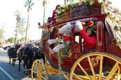 Wells Fargo Stagecoach in Rose Bowl Parade