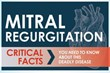 Mitral Regurgitation Infographic Raising Awareness to the Dangers of...