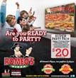 Romeo's Pizza Super Party Pack