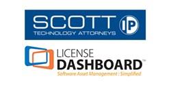 Scott & Scott, LLP and License Dashboard joint logo