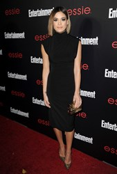 Actress Nicole Gale Anderson carries Jill Milan Art Deco Clutch to Entertainment Weekly SAG Awards party at Chateau Marmont, Jan, 17, 2014, Los Angeles. (Photo by Jason LaVeris/FilmMagic)