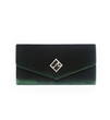 Jill Milan New Canaan Clutch in green velvet