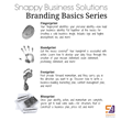 Snappy Business Solutions, Branding Basics Series