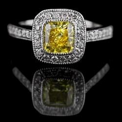 Lab Created Yellow Diamond