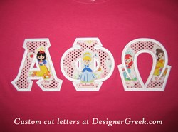 custom greek letters, fabric letters, sewn-on greek letters, stitch letters