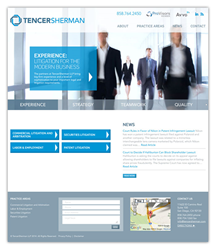 TencerSherman Website Design