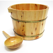 Alfi AB6604 Solid Cedar Wood Barrel Bucket with Matching Spoon