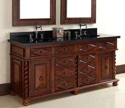 "James Martin Solid Wood 72"" Continental Double Bathroom Vanity 100-V72-BCH"