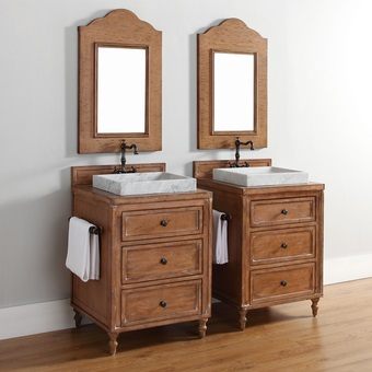 to using light wood bathroom vanities in a cottage style bathroom